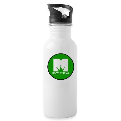 BodyByKing Green - Water bottle with straw