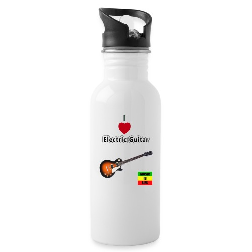 I LoveElectric Guitar jpg - Water bottle with straw