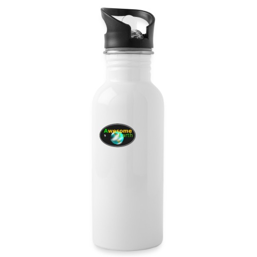 awesome earth - Water bottle with straw