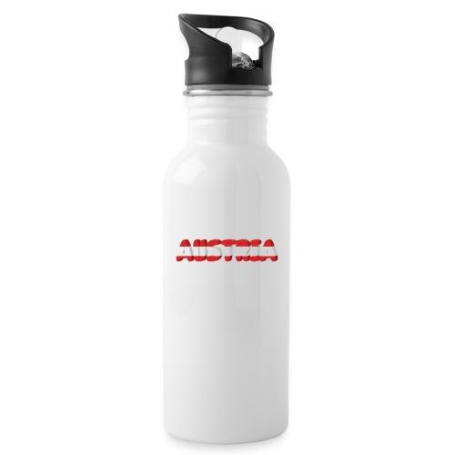 Austria Textilien und Accessoires - Trinkflasche mit integriertem Trinkhalm