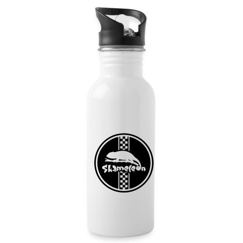 skameleon Logo - Trinkflasche mit integriertem Trinkhalm