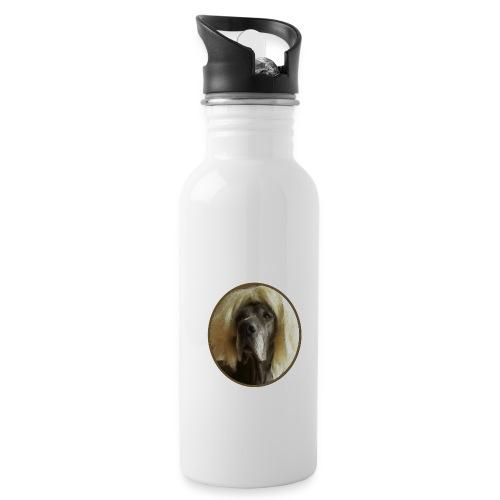D O G G E mit Perücke - Trinkflasche mit integriertem Trinkhalm