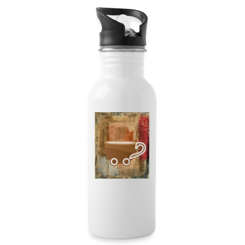 vintage coffee - Trinkflasche mit integriertem Trinkhalm