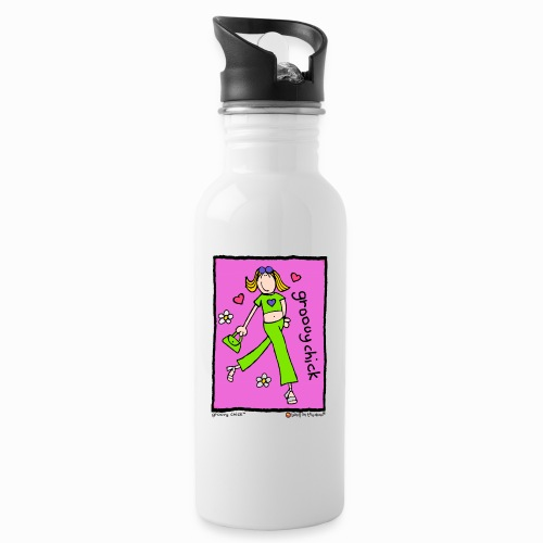 groovy chick - the original - Water bottle with straw