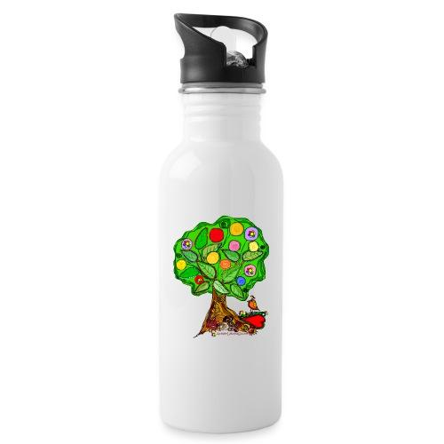 LebensBaum - Trinkflasche mit integriertem Trinkhalm