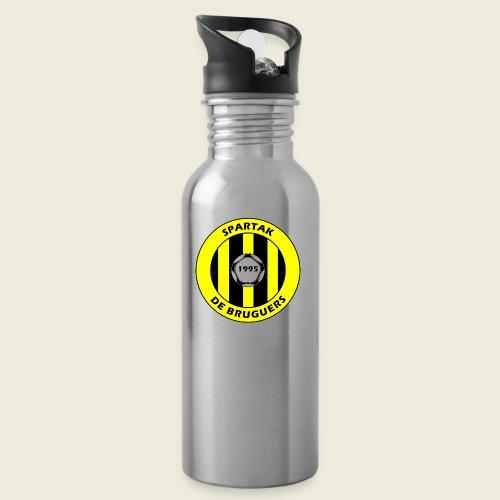 logospartak - Botella cantimplora con pajita integrada