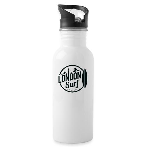 London Surf - Black - Water bottle with straw