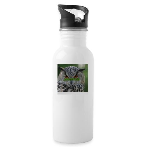 JohannesB lue - Drikkeflaske med integrert sugerør