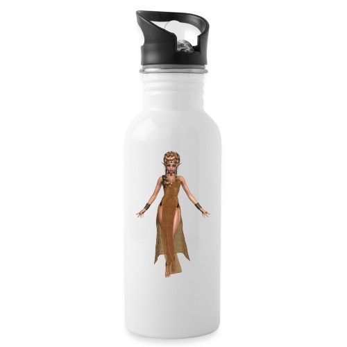 elven sorceress - Water bottle with straw