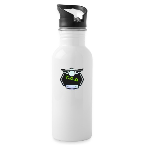 Cool gamer logo - Water bottle with straw