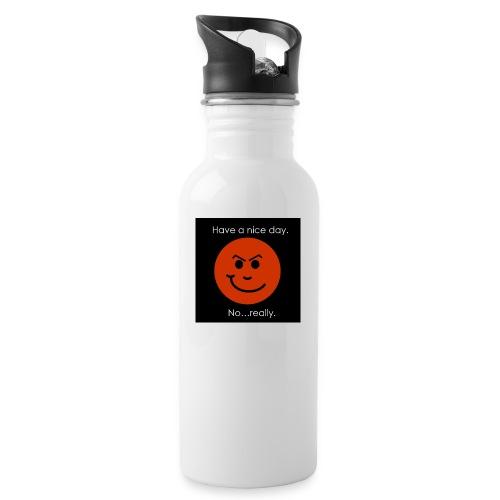 Have a nice day - Drikkeflaske med integreret sugerør