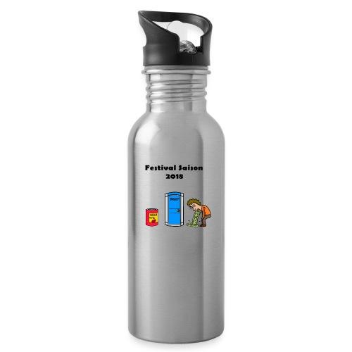 Festivalsaison 2018 - Trinkflasche mit integriertem Trinkhalm