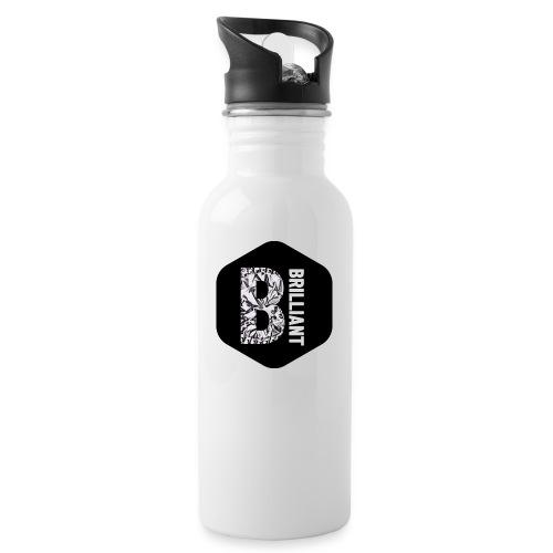 B brilliant black - Drinkfles met geïntegreerd rietje