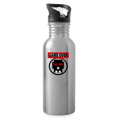 Game over - Trinkflasche mit integriertem Trinkhalm