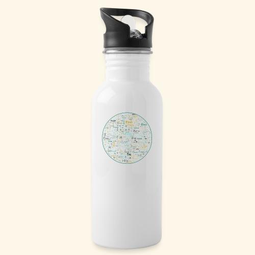 Ich bin - Trinkflasche mit integriertem Trinkhalm