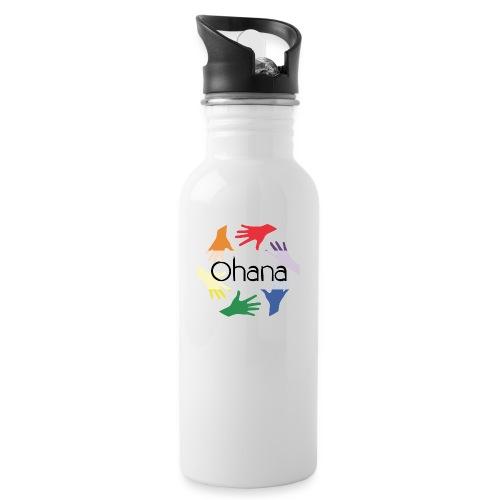 Ohana heißt Familie - Trinkflasche mit integriertem Trinkhalm