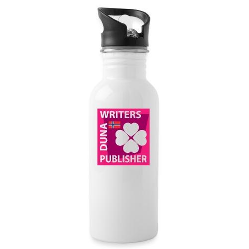 Duna Writers Publisher Pink - Drikkeflaske med integrert sugerør