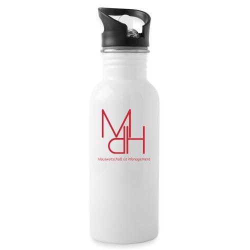 MdH - Hauswirtschaft ist Management - Trinkflasche mit integriertem Trinkhalm