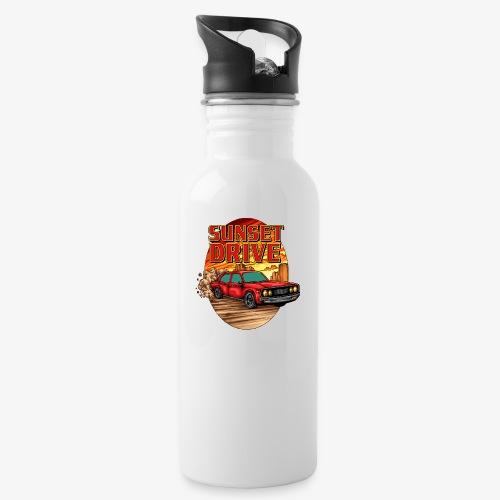 Sunset Drive - Trinkflasche mit integriertem Trinkhalm