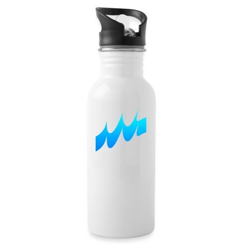 Ocean Waves or just Deep - Water bottle with straw