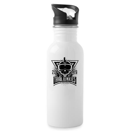 Trailjunkies Crew2019 Black - Trinkflasche mit integriertem Trinkhalm