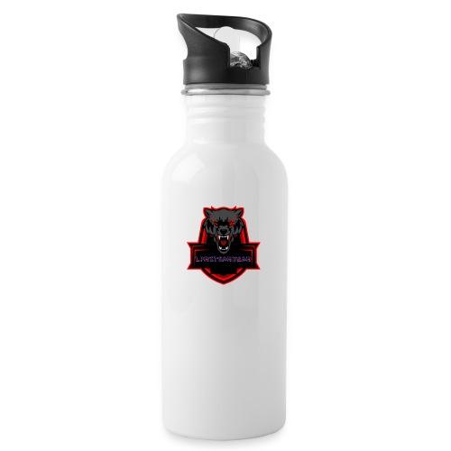 LpmitSamynam Logo - Trinkflasche mit integriertem Trinkhalm