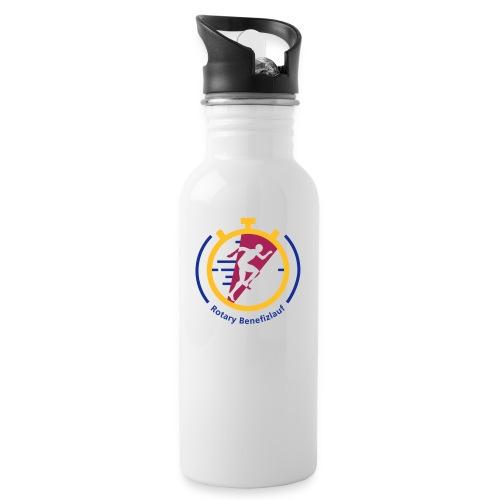 Rotary Benefizlauf Merchandise - Trinkflasche mit integriertem Trinkhalm