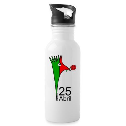 Galoloco - 25 Abril - Trinkflasche mit integriertem Trinkhalm