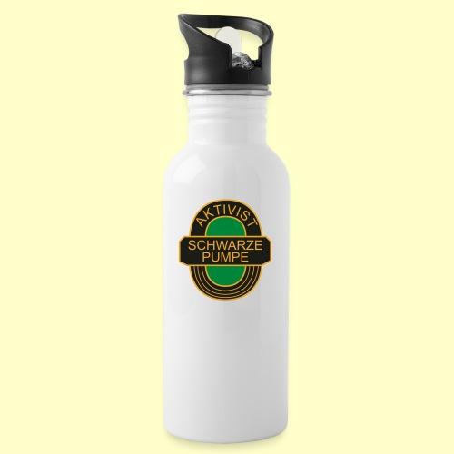 BSG Aktivist Schwarze Pumpe - Trinkflasche mit integriertem Trinkhalm