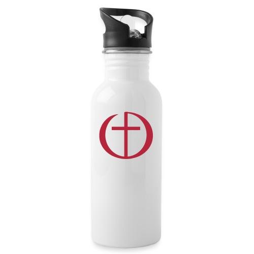 Logo FeG FFB - Trinkflasche mit integriertem Trinkhalm