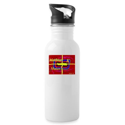 logomatthias jpg - Trinkflasche mit integriertem Trinkhalm