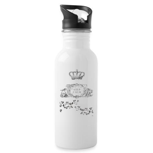 keep calm and kiss me - Botella cantimplora con pajita integrada