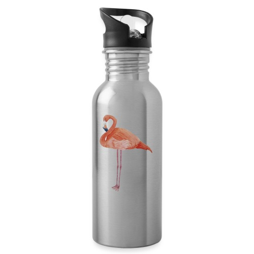 flamingo - Drikkeflaske med integreret sugerør