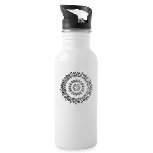 Mandala Black&White - Borraccia con cannuccia integrata