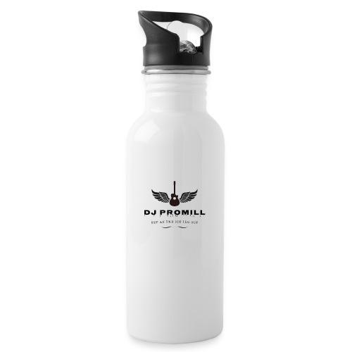 DJ Promill - Trinkflasche mit integriertem Trinkhalm