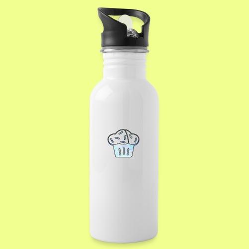 Pastel - Botella cantimplora con pajita integrada
