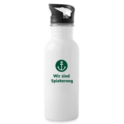 Wir sind Spiekeroog Freunde Sortiment - Trinkflasche mit integriertem Trinkhalm