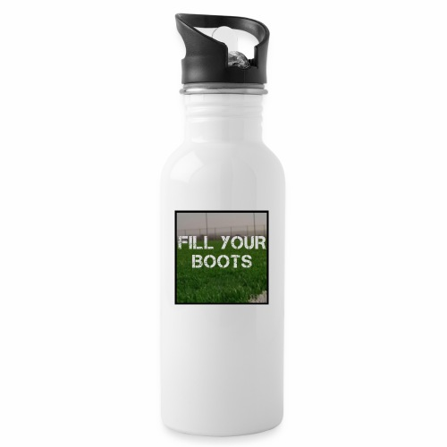 Fill Your Boots Logo - Water bottle with straw