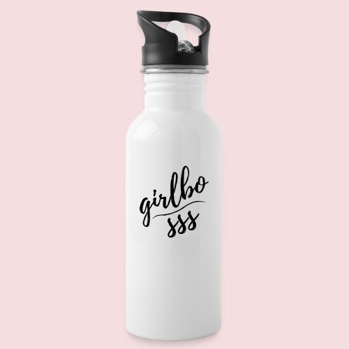 girlbosss - Trinkflasche mit integriertem Trinkhalm