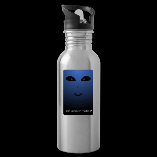 Frieden - Trinkflasche mit integriertem Trinkhalm