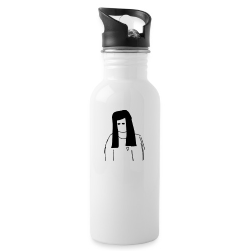 Girl - Water bottle with straw