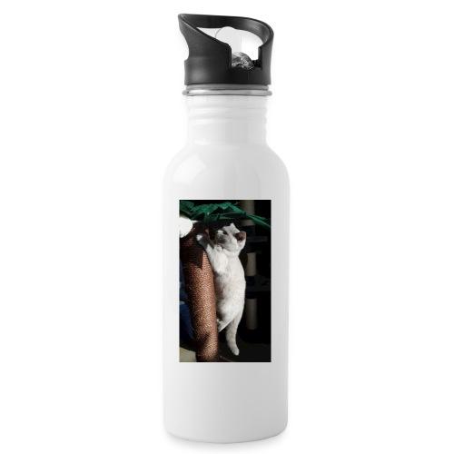 BKH auf Palme - Trinkflasche mit integriertem Trinkhalm
