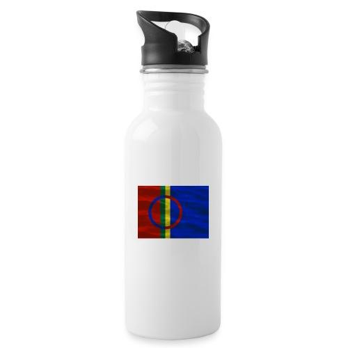 Sapmi flag - Drikkeflaske med integrert sugerør