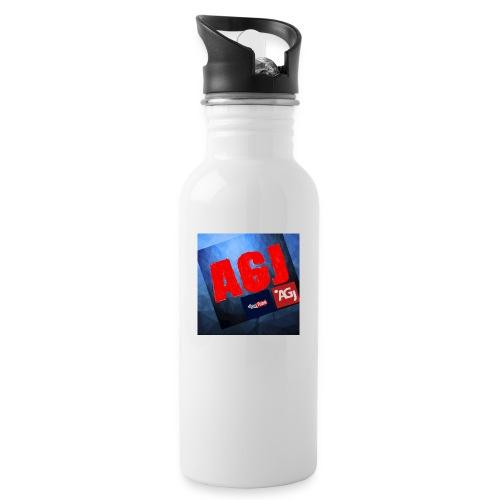 AGJ Nieuw logo design - Drinkfles met geïntegreerd rietje
