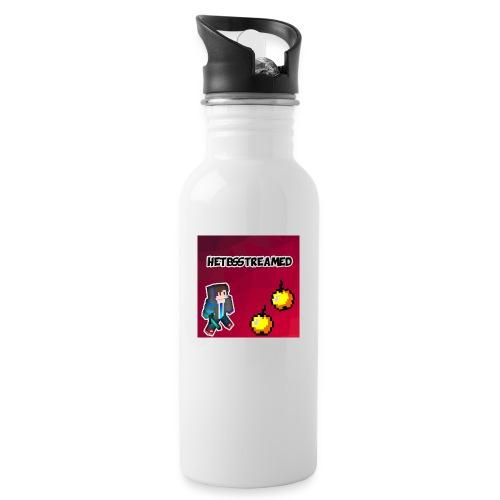 Logo kleding - Drinkfles met geïntegreerd rietje