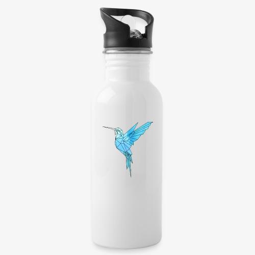 Kolibri Geometrisch - Trinkflasche mit integriertem Trinkhalm