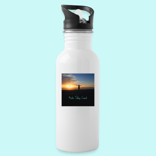 Make Today Count - Water bottle with straw