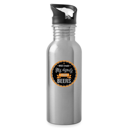 Trade my dignity for beer - Water bottle with straw