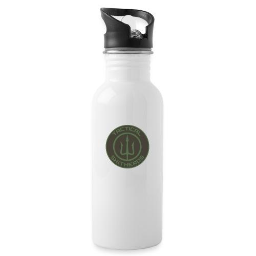 Tactical Shitheads Logo - Trinkflasche mit integriertem Trinkhalm