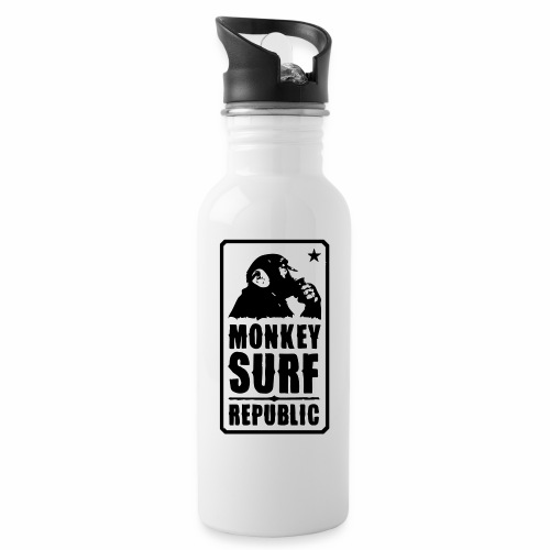 Monkey Surf Republic bicolor - Water bottle with straw